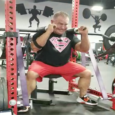 Safety Bar Box Speed Squats